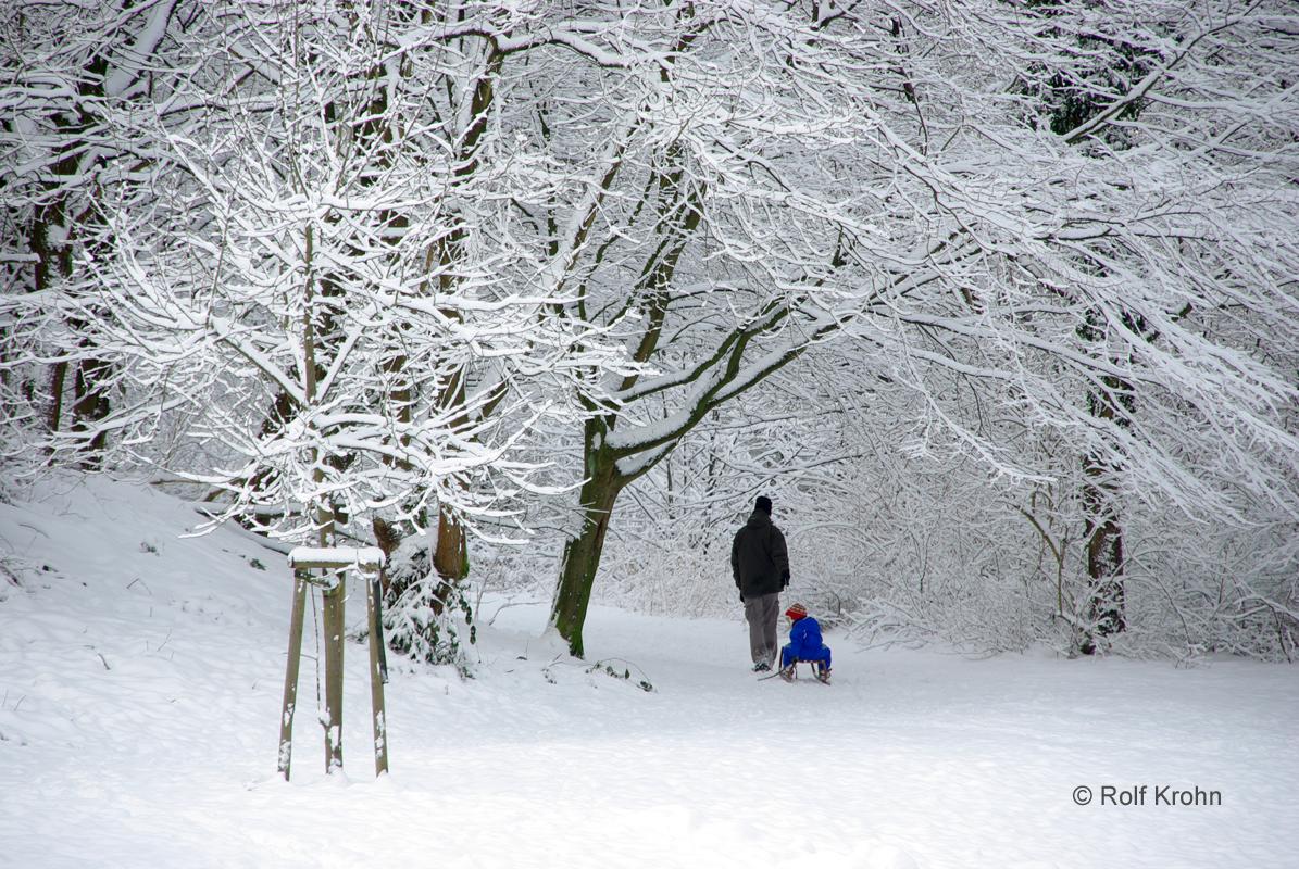 2018 Januar  Schnee in Norderstedt   Foto Rolf Krohn