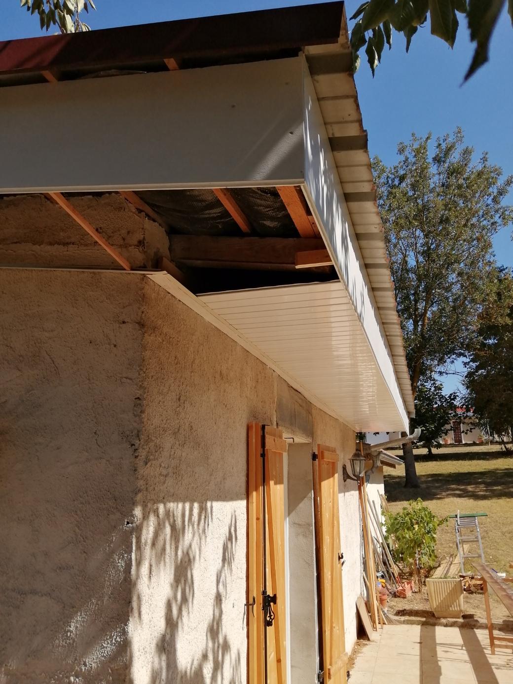 restauration d'une avancée de toit
