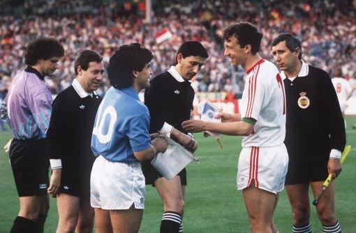 Face au Napoli de Diego Maradona, en finale de la Coupe UEFA 1989