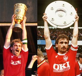 En tant que capitaine du 1. FCK il souleva la coupe nationale en 1990 et remporta le championnat l'année suivante à la surprise générale.