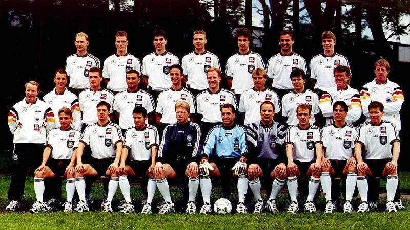 La sélection allemande championne d'Europe en Angleterre.