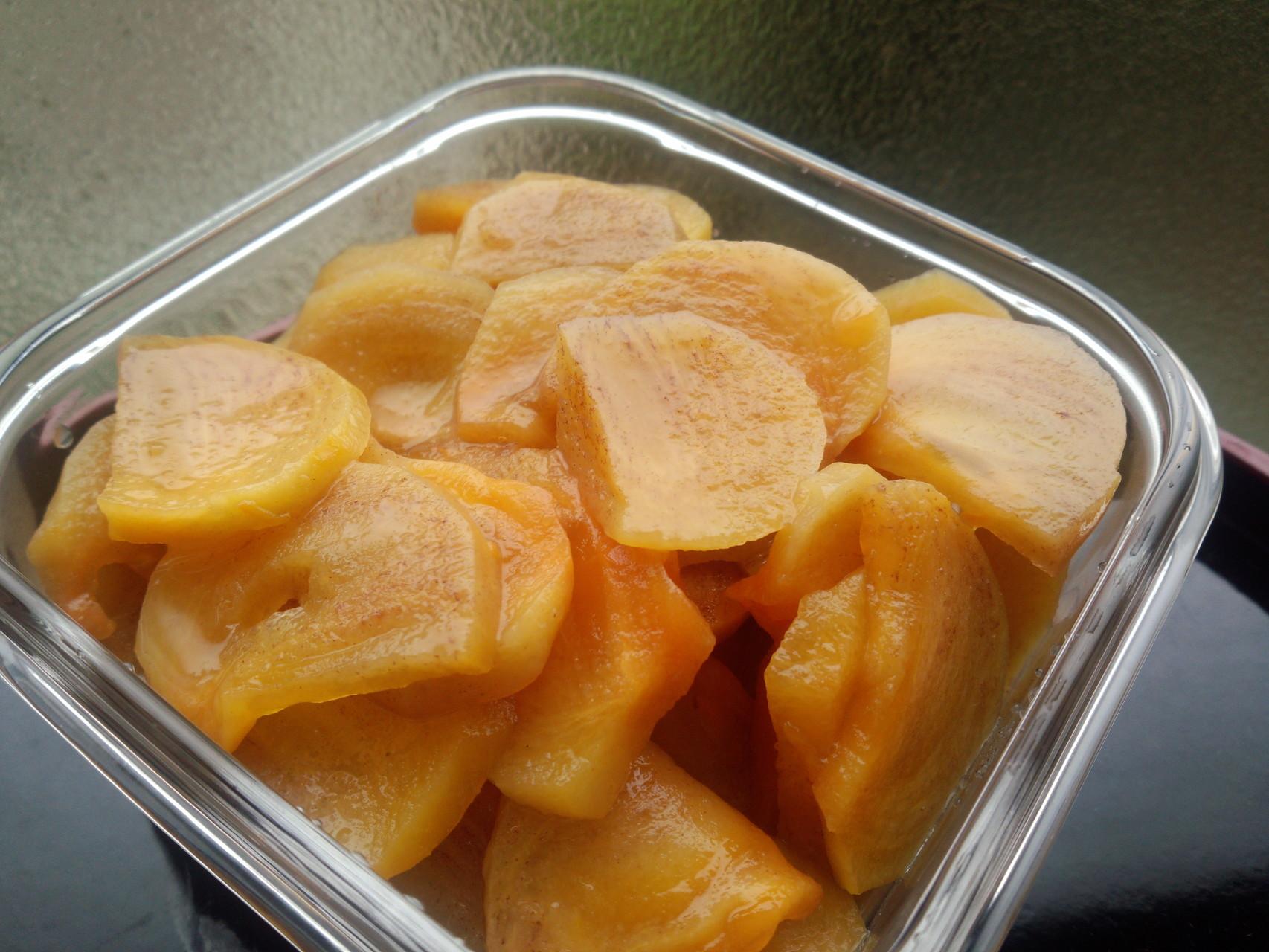 柿のシロップ煮
