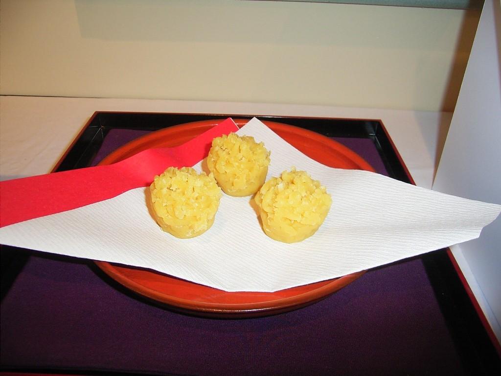 栗粉餅(くりこもち)。菊の節供のお菓子。