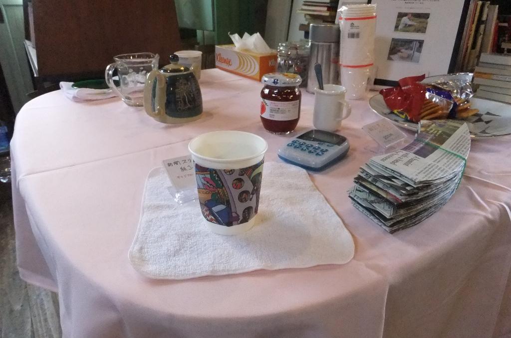 オマケに開いた、私の「立ち飲み」紅茶。
