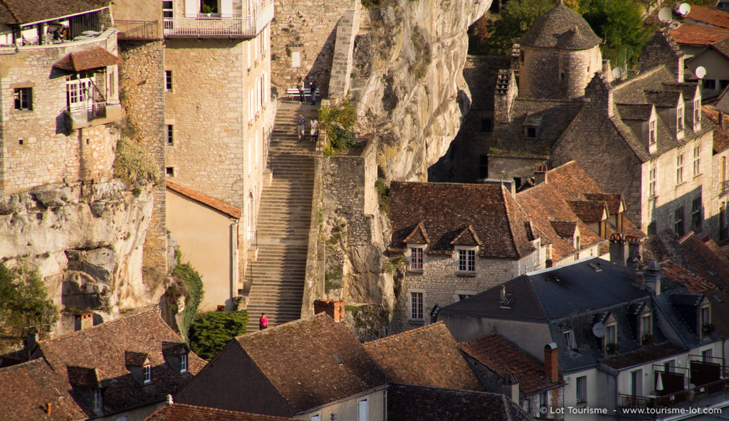 Le grand escalier de Rocamadour