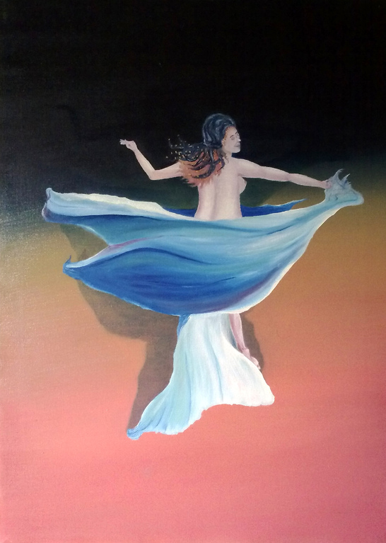 LA DANZATRICE (olio su tela 50 x 70) [THE DANCER oil on canvas 50 x 70]