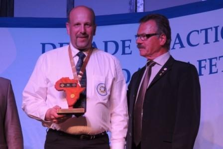 Dann die Siegerehrung: WELTMEISTER Ralf Rüscher (Einzelwertung Klasse D)