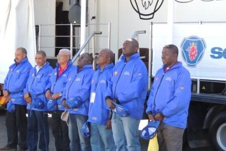 ...das Team von Namibia...