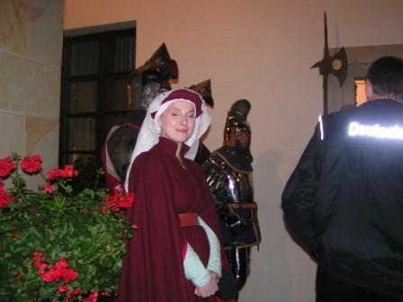 Burgfäulein und edle Ritter bildeten den Rahmen der Eröffnugsfeier...