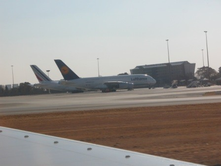 So ging es für die meisten Mitglieder der Deutschen Nationalmannschaft nach einer tollen und erfolgreichen Weltmeisterschaft mit dem Airbus der Lufthansa am 11. August 2012 wieder zurück nach Deutschland.