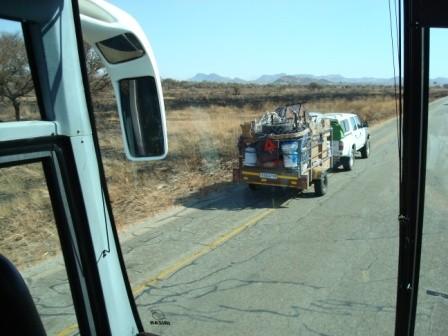 Transportprobleme werden waghalsig gemeistert.