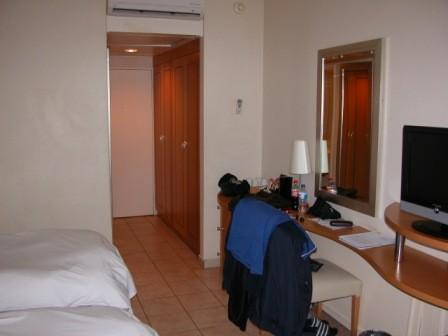 Ein Blick in eines der modernen und komfortabelen Zimmer...