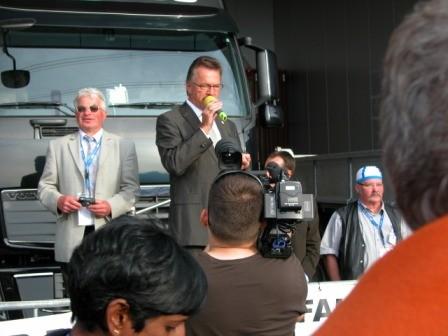 ...dann spricht Präsident Ludwig Büchel zur Eröffnung der WM.