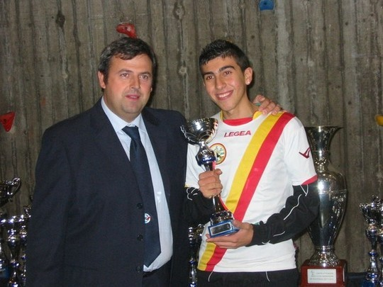 Carmelo Sciacca, vincitore della Coppa Italia 2010 categoria Under 19