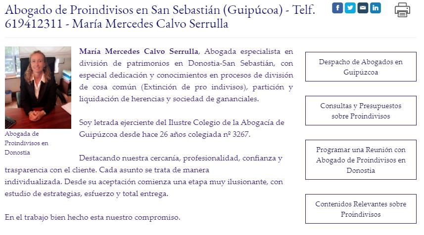 Abogada de Proindivisos, Herencias y reparto de gananciales Donostia / Guipúzcoa