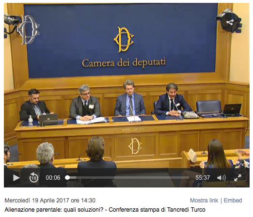 """19 Aprile 2017 """"Mamma non Vuole """" alla Camera dei Deputati"""