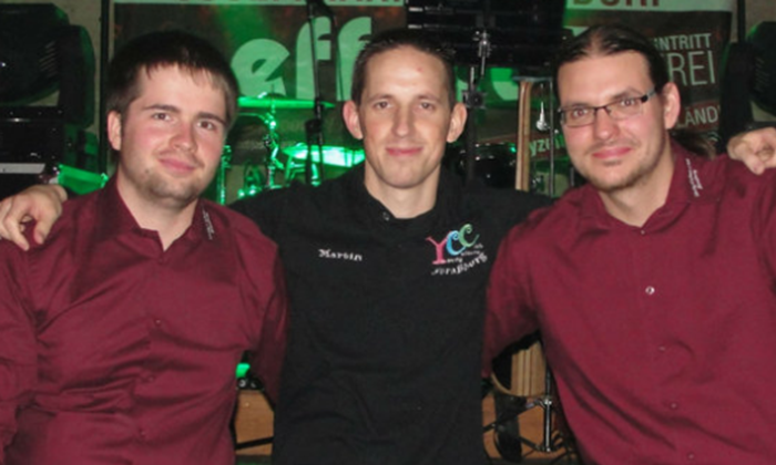 Andreas Putz (Schriftführer), Martin Truppe (Kassier) und René Wallner (Präsident)