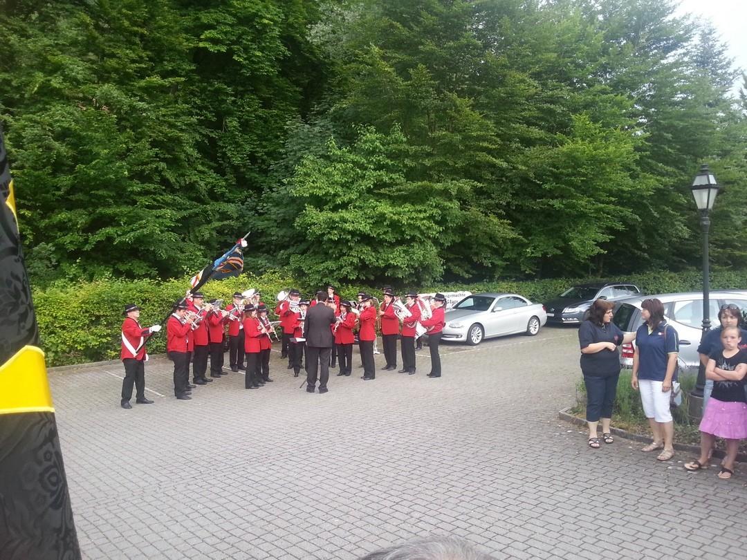 Empfang in Wittnau durch die Vereine