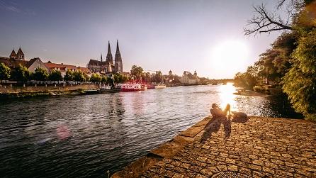 An der Eisernen Brücke fotografiert von Das Fotoatelier Regensburg - Fotograf Regensburg