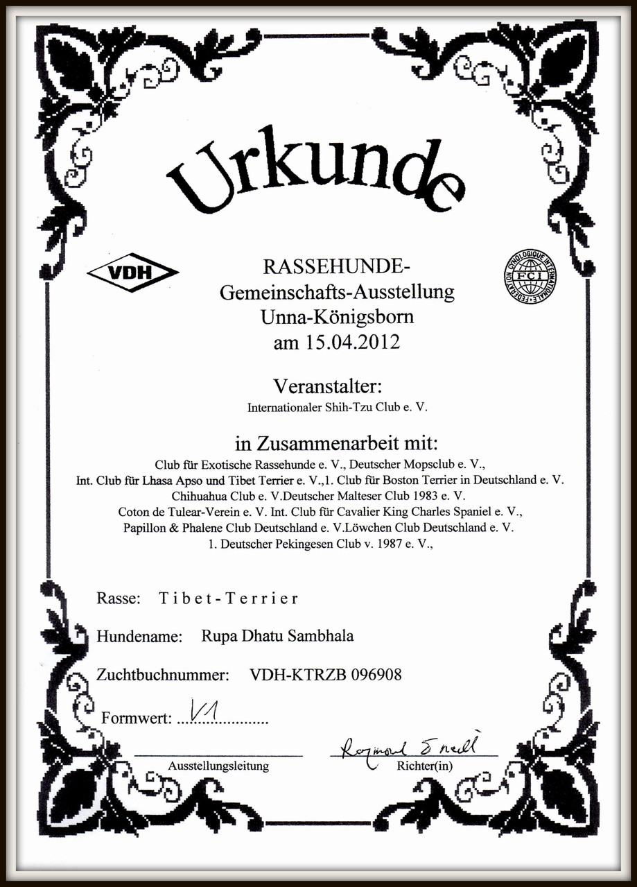 Zuchtschau Unna V1/BIS/BOB