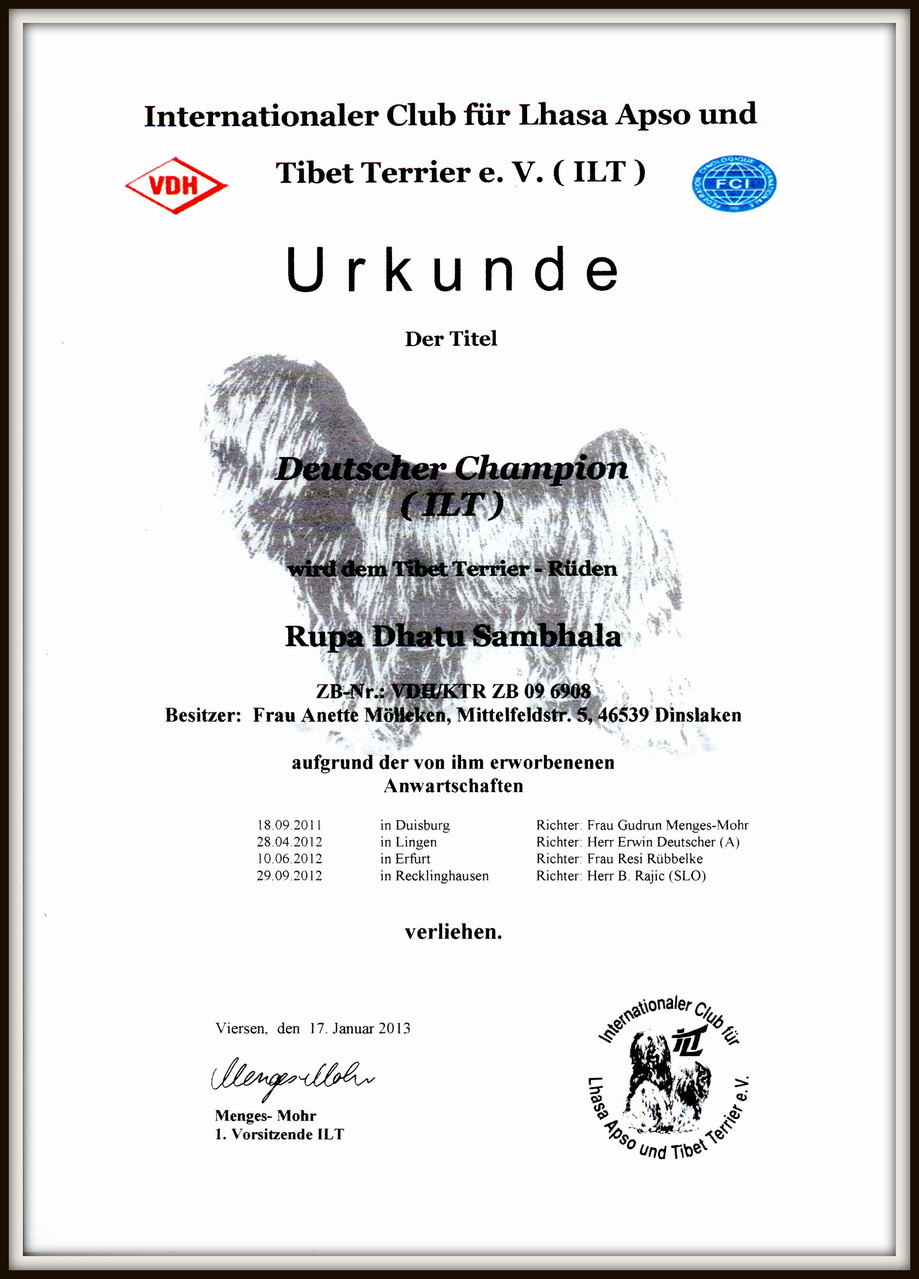 Deutscher Champion ILT