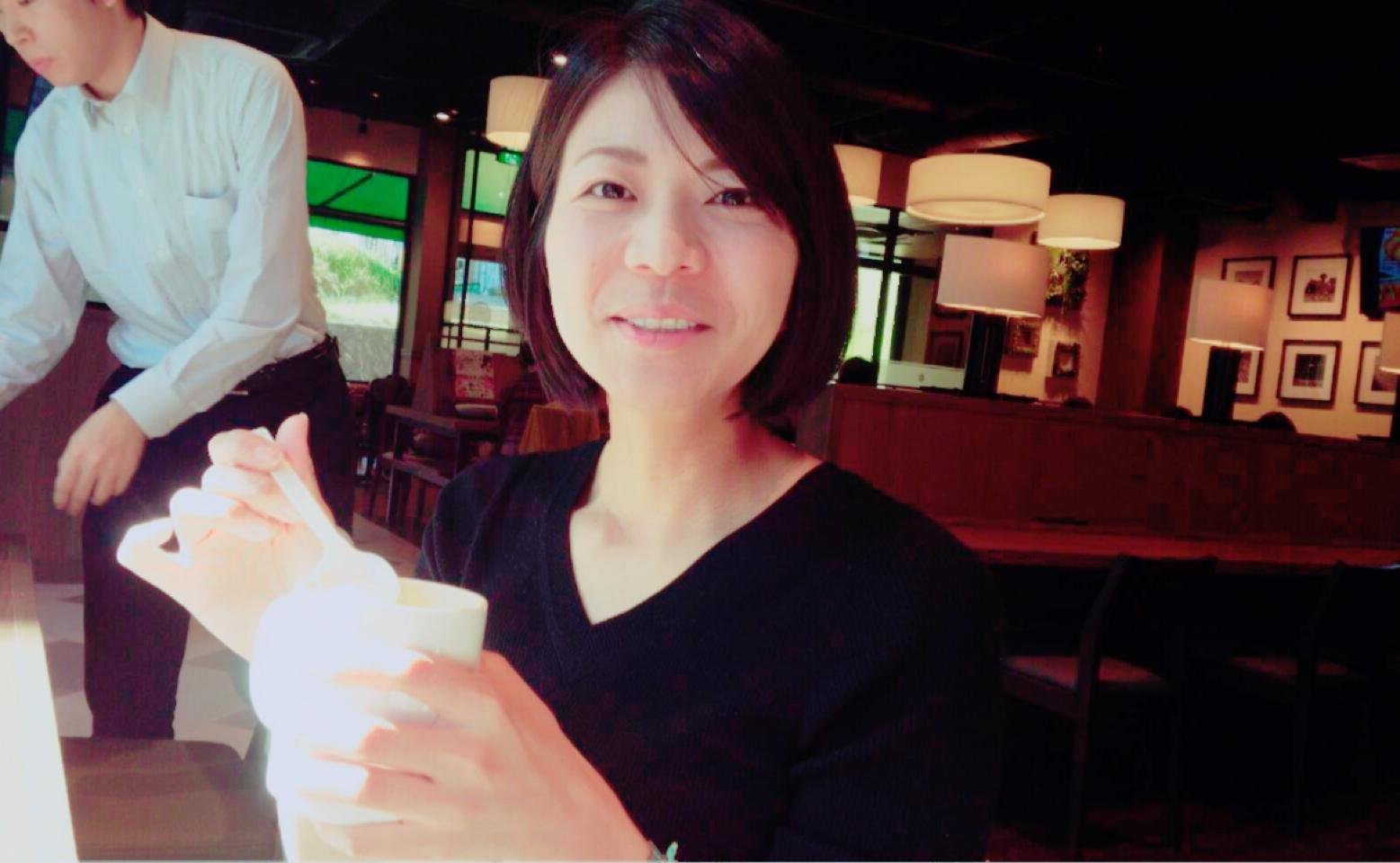 横川駅に新しくオープンしたカフェで一枚。