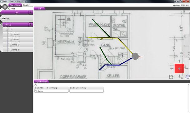 High-Tech-Kamera in 3D zur Kanalinspektion - Funktionsweise Software - Bild 1