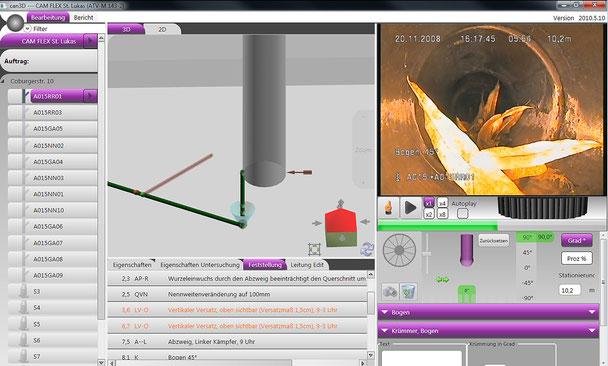 High-Tech-Kamera in 3D zur Kanalinspektion - Funktionsweise Software - Bild 3