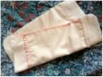 縫いかけの布ナプキンです。