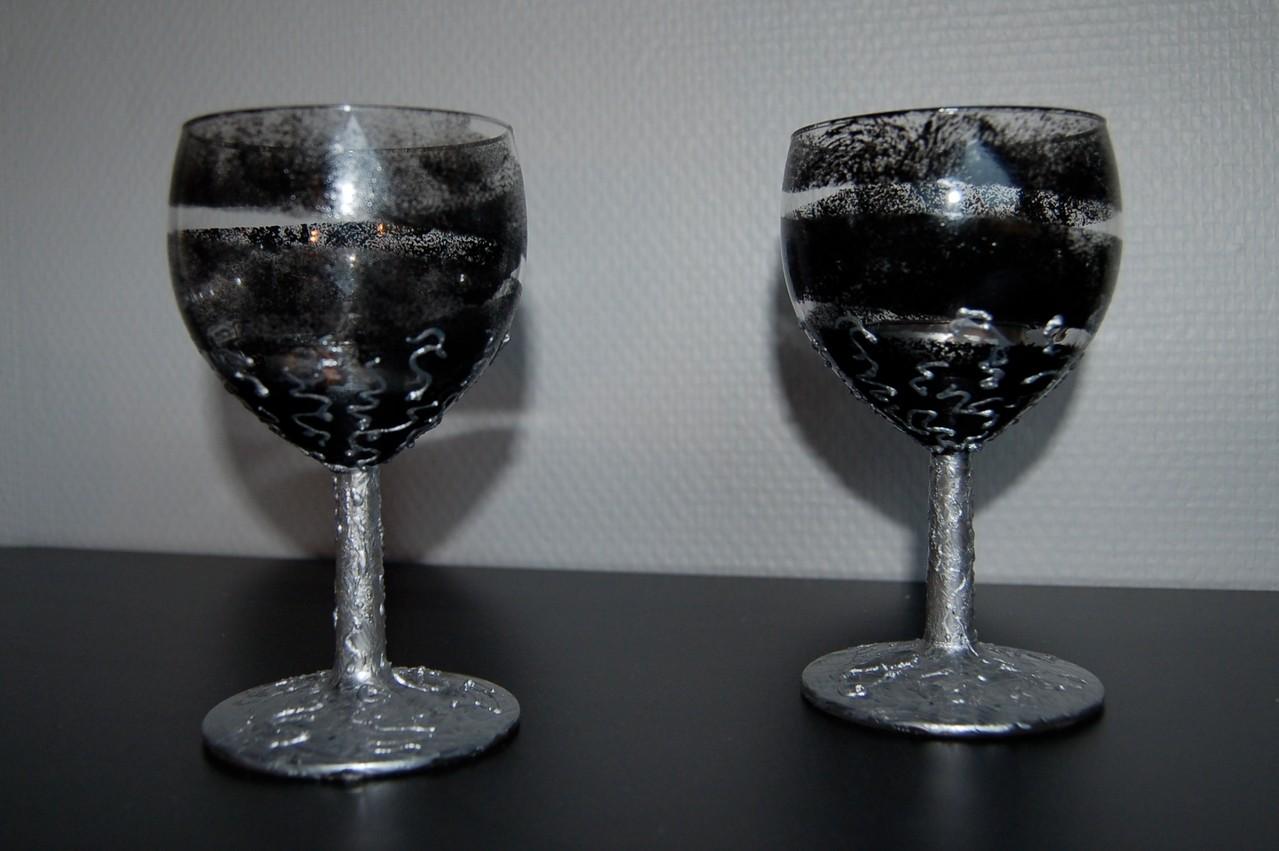 Photophores verre peint