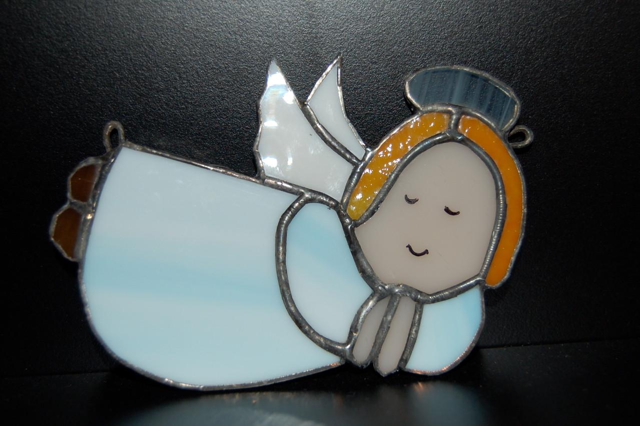 Petit ange réalisé en Tiffany