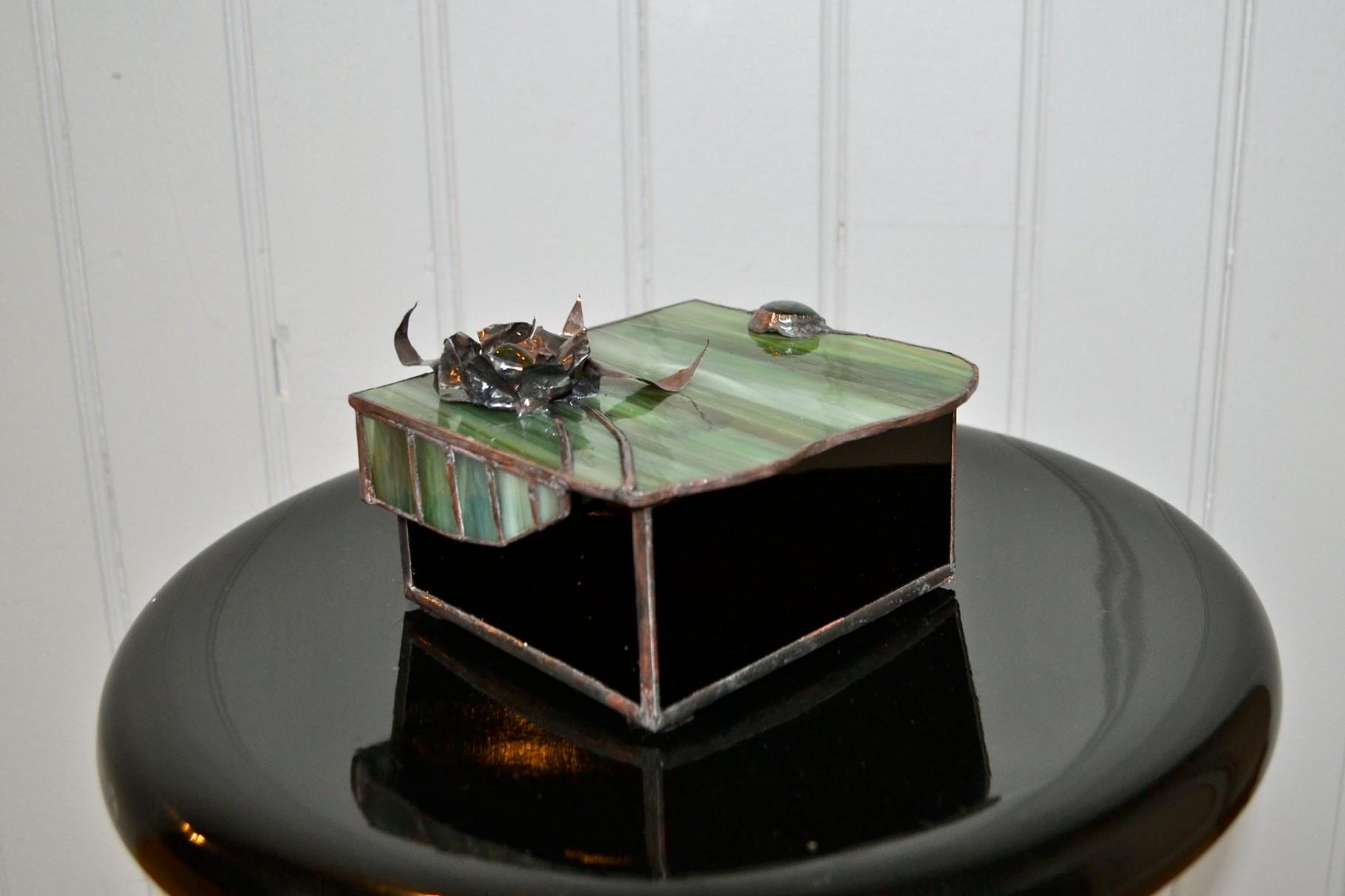 Boite Tiffany décor cuivre