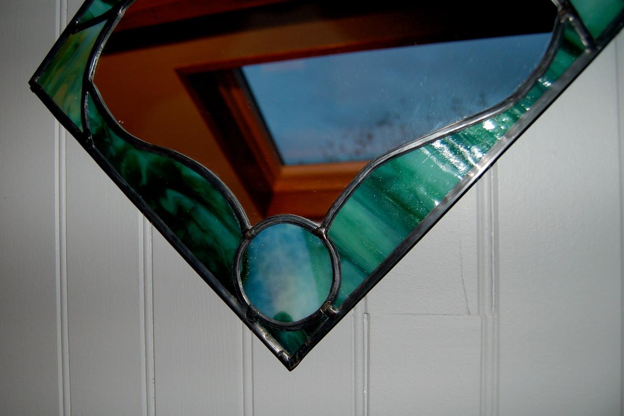 Miroir réalisé en vitrail (détail)