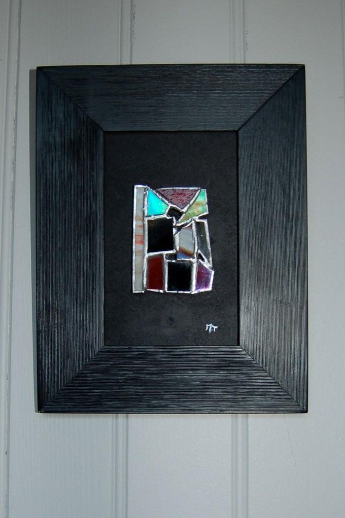 Tableau en Tiffany sur cadre bois