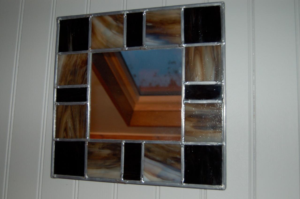 Miroir réalisé en vitrail