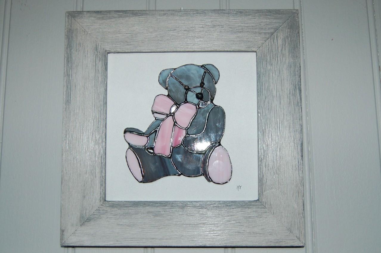 Tableau réalisé en Tiffany sur cadre bois