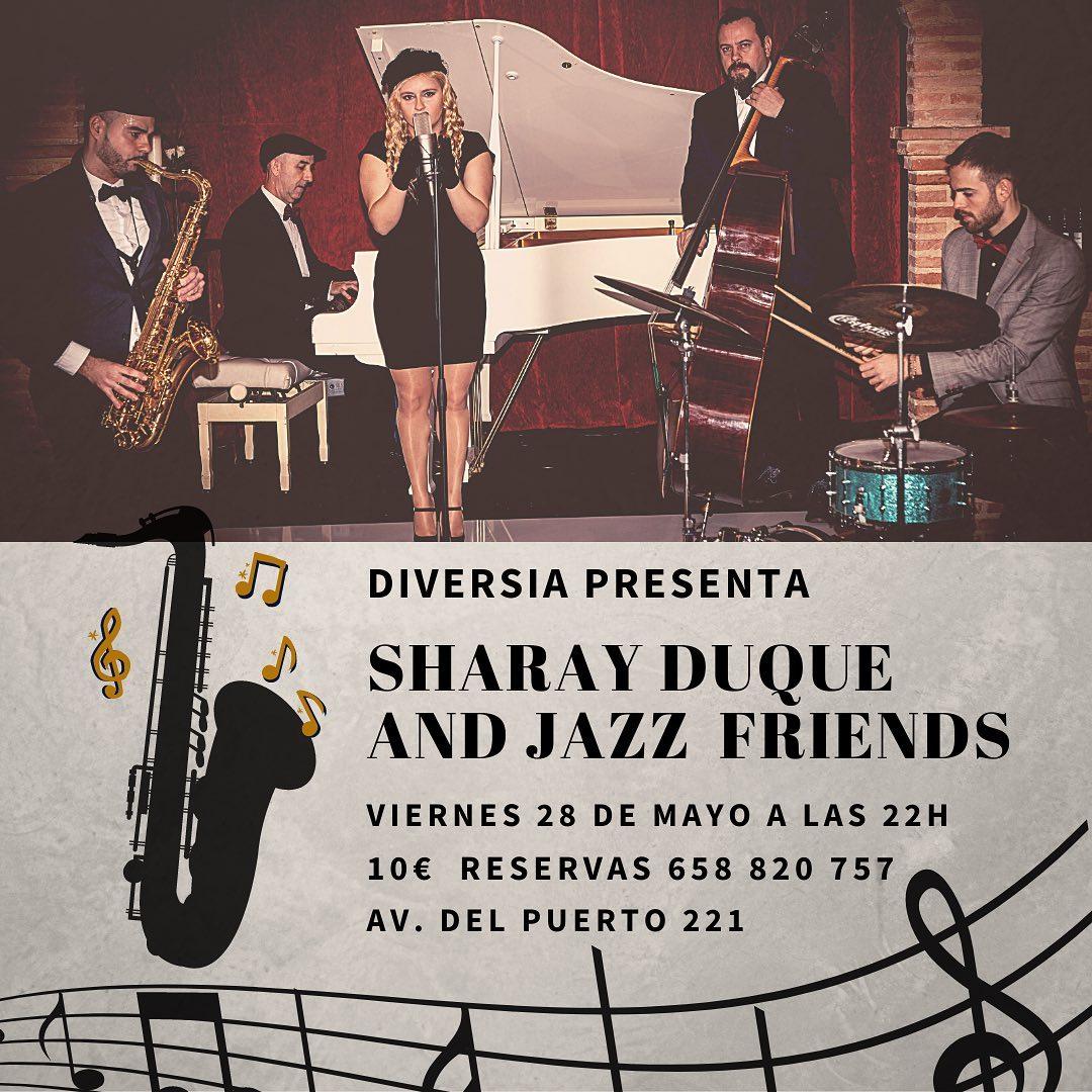 Sharay Duque con su banda actuará en Valencia el Viernes 28 de Mayo.