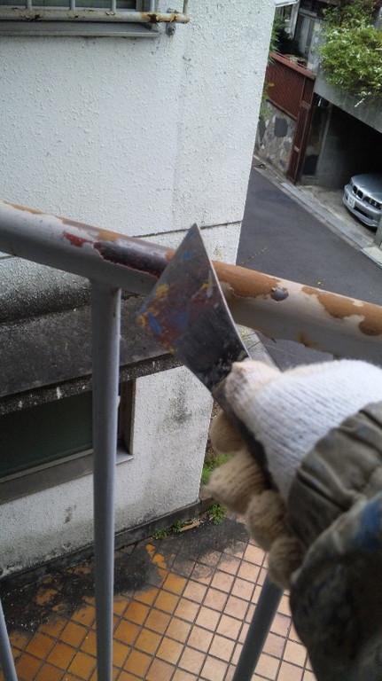 鉄部 ケレン 旧塗膜の除去