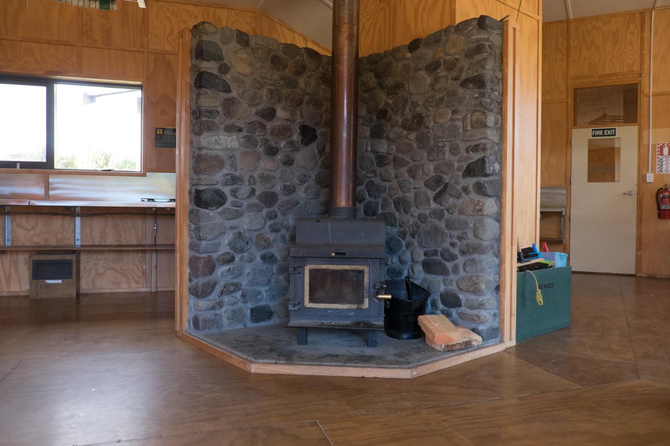 Die einzige Hütte im Nationalpark die mit Holz betrieben wird