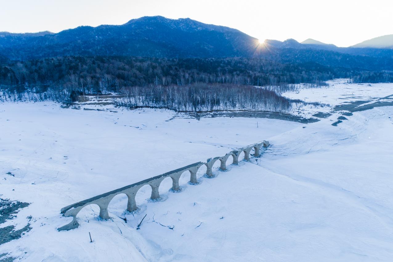 2019.3.8 上士幌町糠平湖 タウシュベツ川橋梁