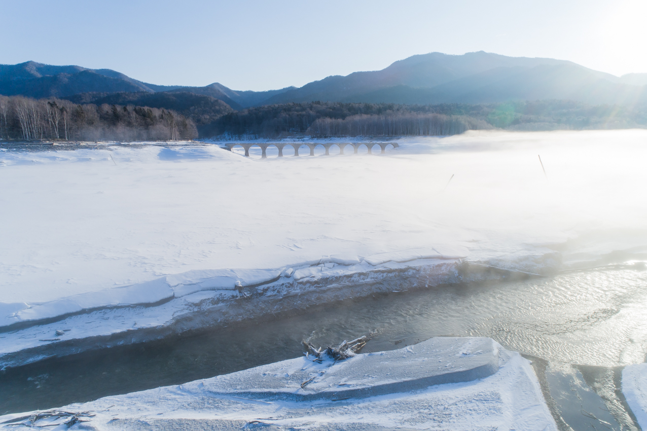 2019.3.15 上士幌町糠平湖 タウシュベツ川橋梁