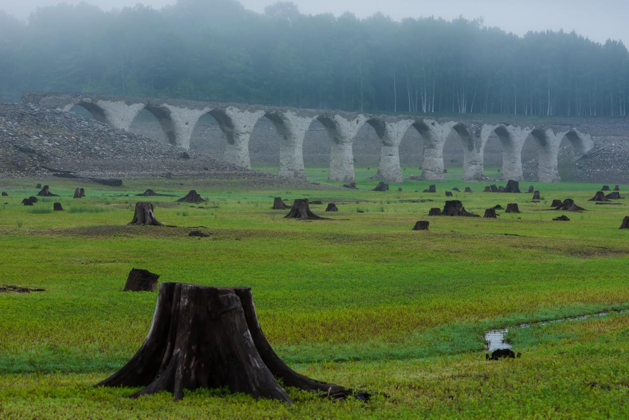 2019.7.3 北海道上士幌町 糠平湖 タウシュベツ川橋梁