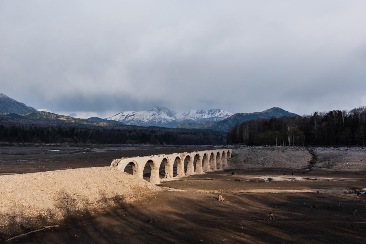 2019.5.10 上士幌町糠平 糠平湖 タウシュベツ川橋梁