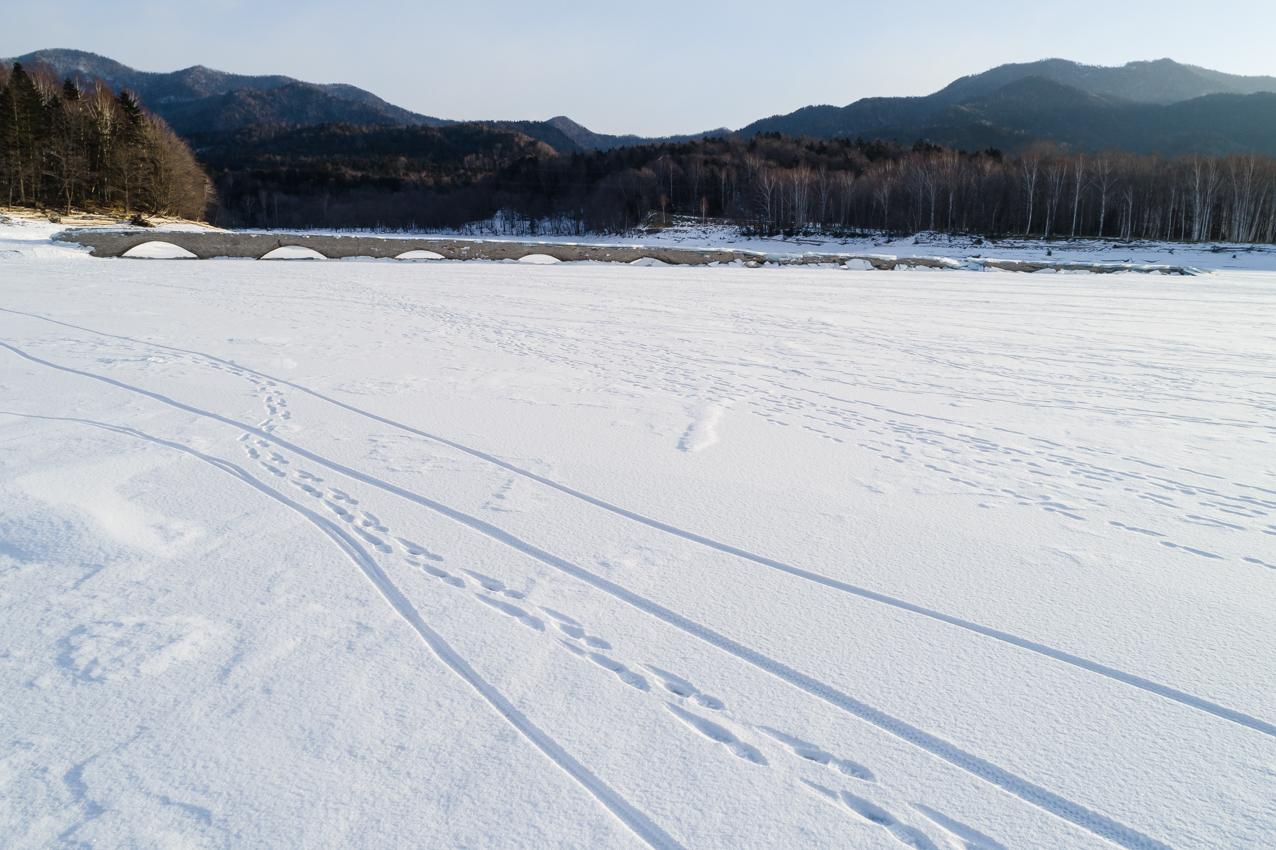 2020.1.17 北海道上士幌町糠平湖 タウシュベツ川橋梁