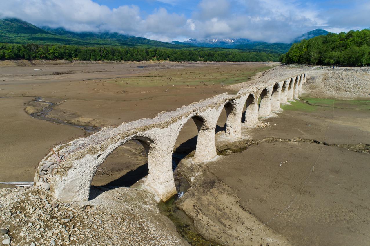 2019.6.6 北海道上士幌町糠平 タウシュベツ川橋梁