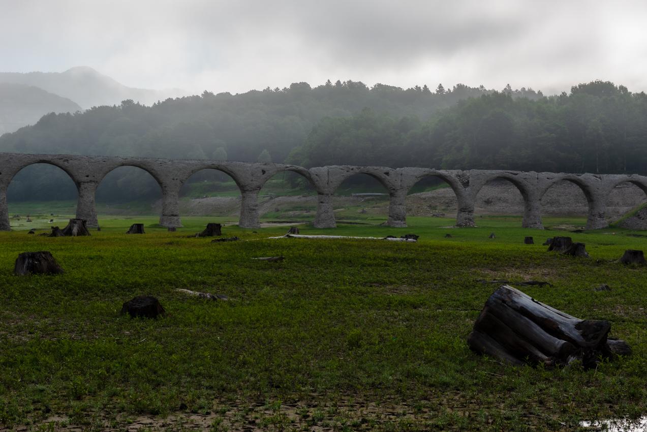 2019.7.9 北海道上士幌町 糠平湖 タウシュベツ川橋梁
