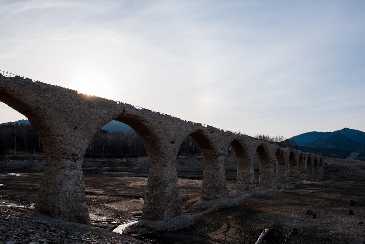 2019.5.6 上士幌町糠平 糠平湖 タウシュベツ川橋梁