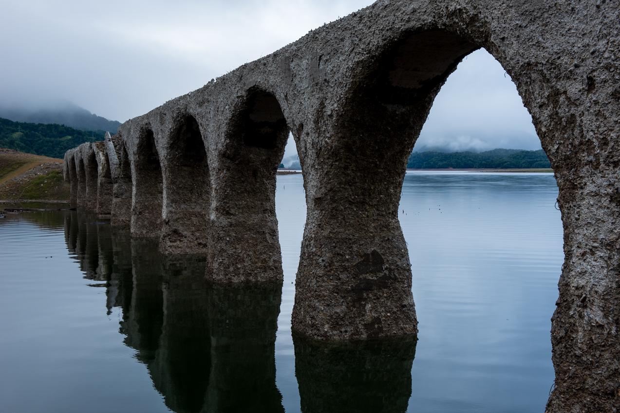 2019. 8.31 北海道上士幌町 糠平湖 タウシュベツ川橋梁