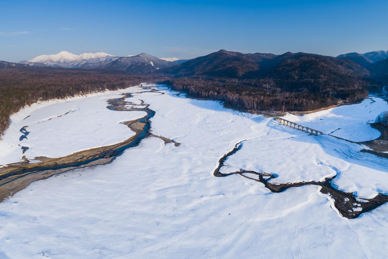 2019.3.26 上士幌町糠平湖 タウシュベツ川橋梁