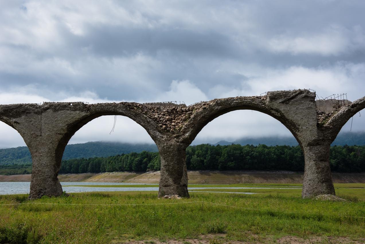 2019. 8.22 北海道上士幌町 糠平湖 タウシュベツ川橋梁